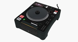 dj cd turntable 3d max