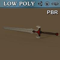3d silver sword games model