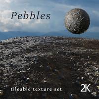 pebbles tileable texture set