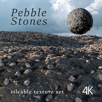 Pebble stones texture set 3D model