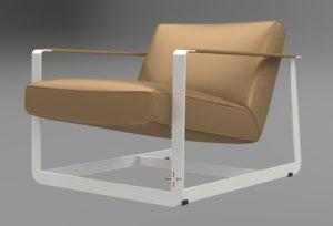 poliform gaston armchair 3d obj