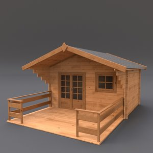 wooden shed 3ds
