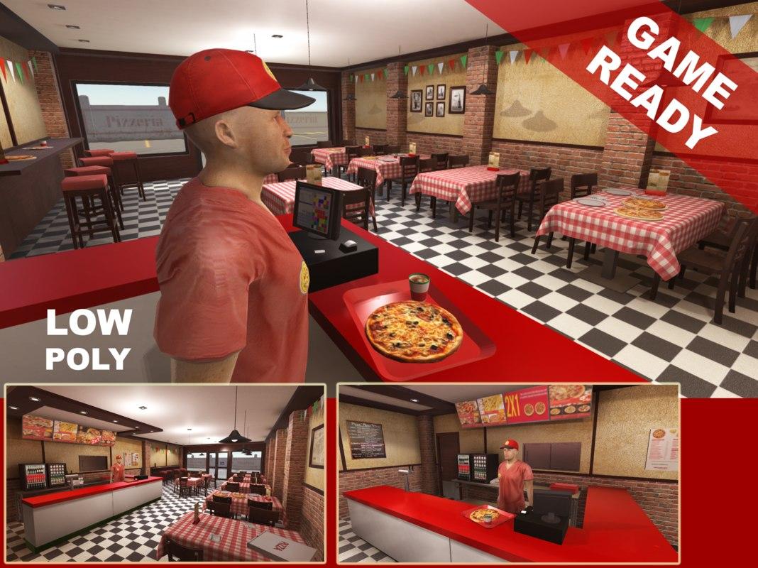 x interior pizzeria
