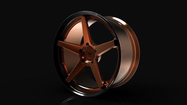 3d model ferrada fr3 wheel