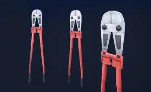 bolt cutter ready pbr 3d model