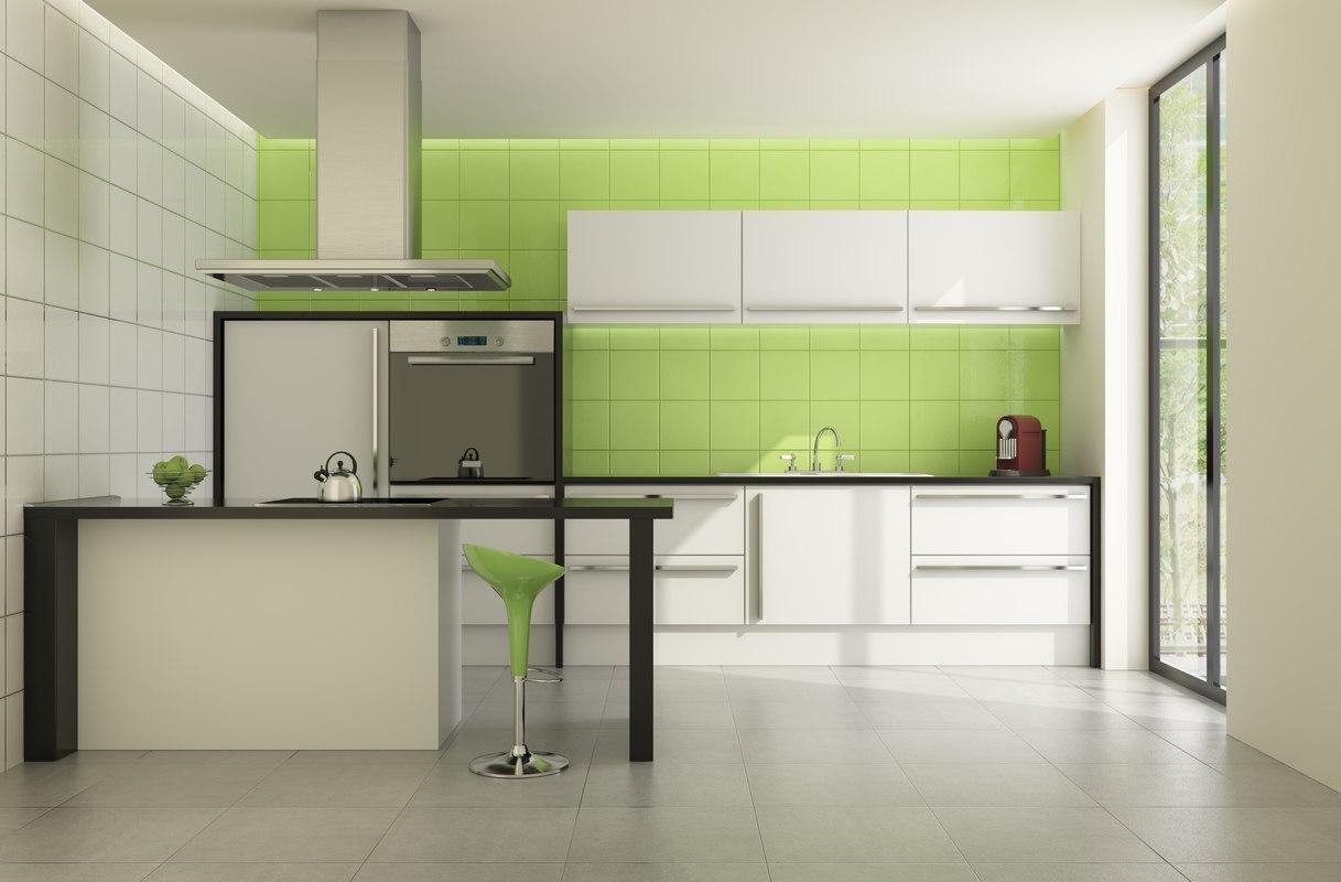 modern little kitchen 3d 3ds