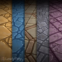 Texture Set Vol.04 Hand Painted Stone Tile