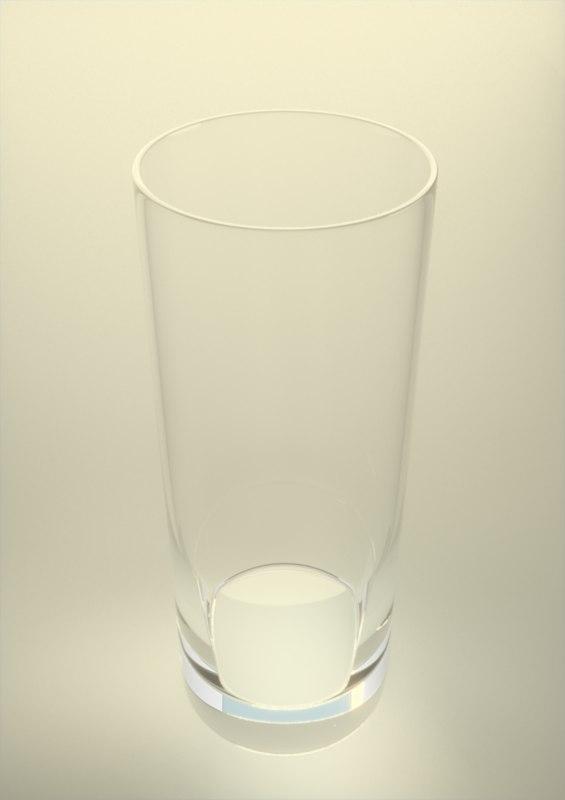 highball glass glassware 3d obj
