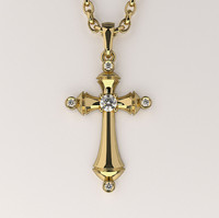 3d cross pendant gemstones