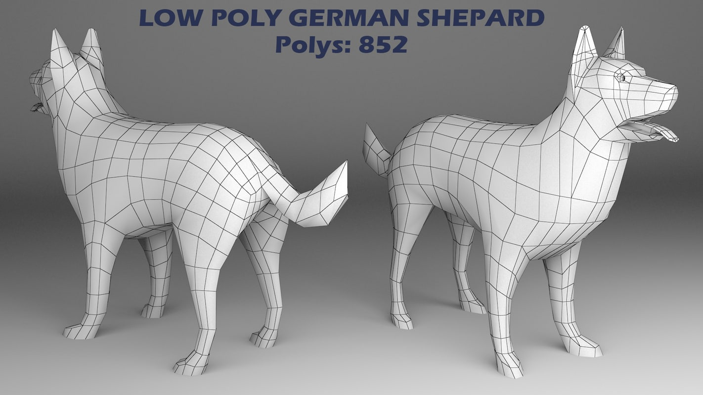 dog canine 3d max
