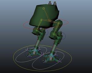 bipedal walker rig 3d fbx