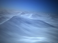 arctic snow terrain 3d model