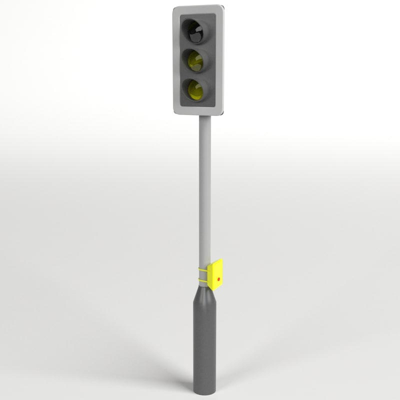 3d traffic lights pedestrian crossing