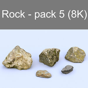 pack 5 rocks - 3d model