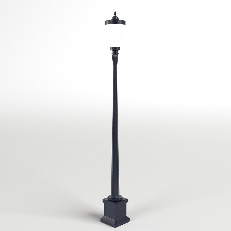 3d model of vintage street lamp