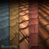 Texture Set Vol.05 Hand Painted Roof