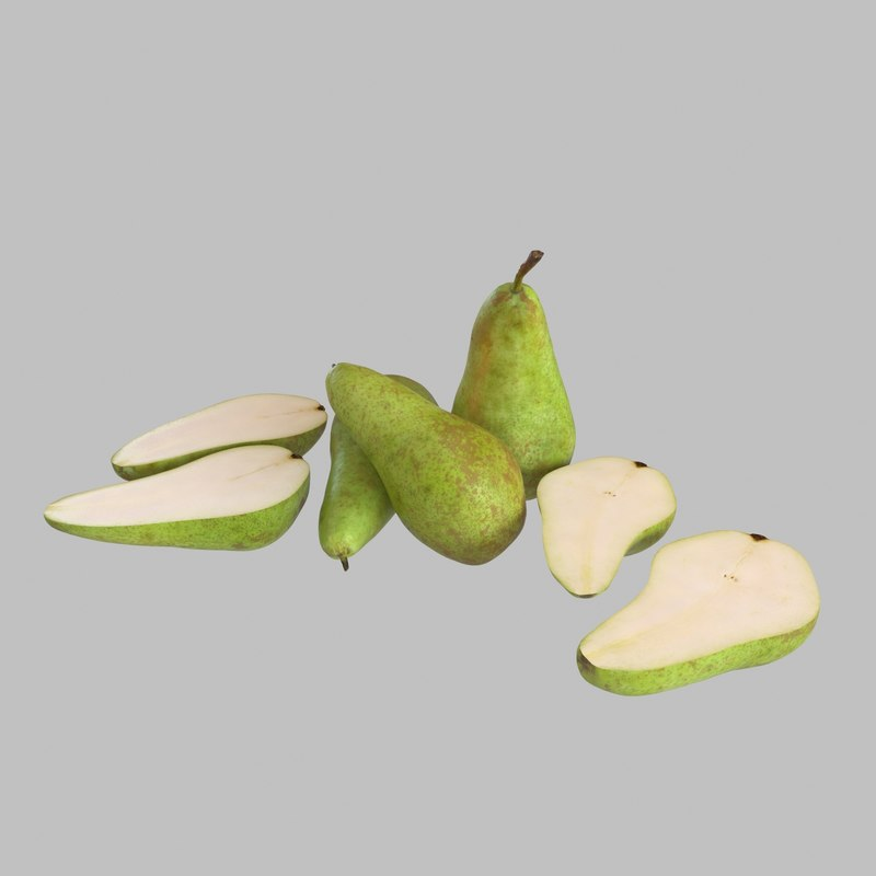 3d model pears photogrammetry scan