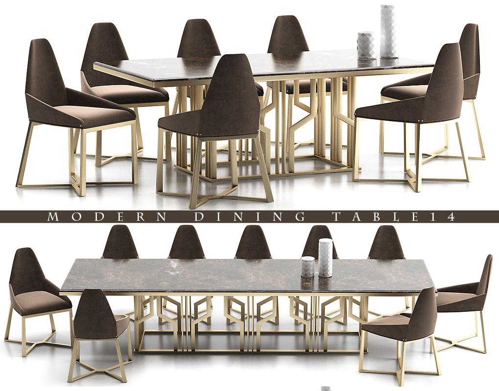 3d model dinning table 14