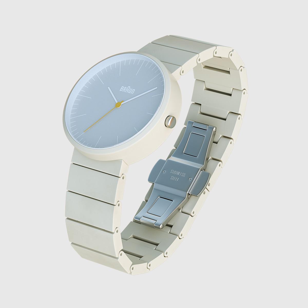 3d closeup braun ceramic watch