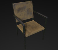 3d obj old chair