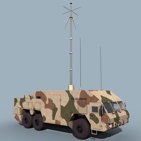 russian command buk-m2e sa-17 grizzly 3d model