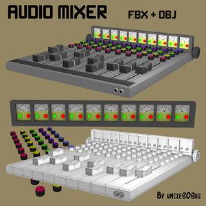 3d mixer music studios model
