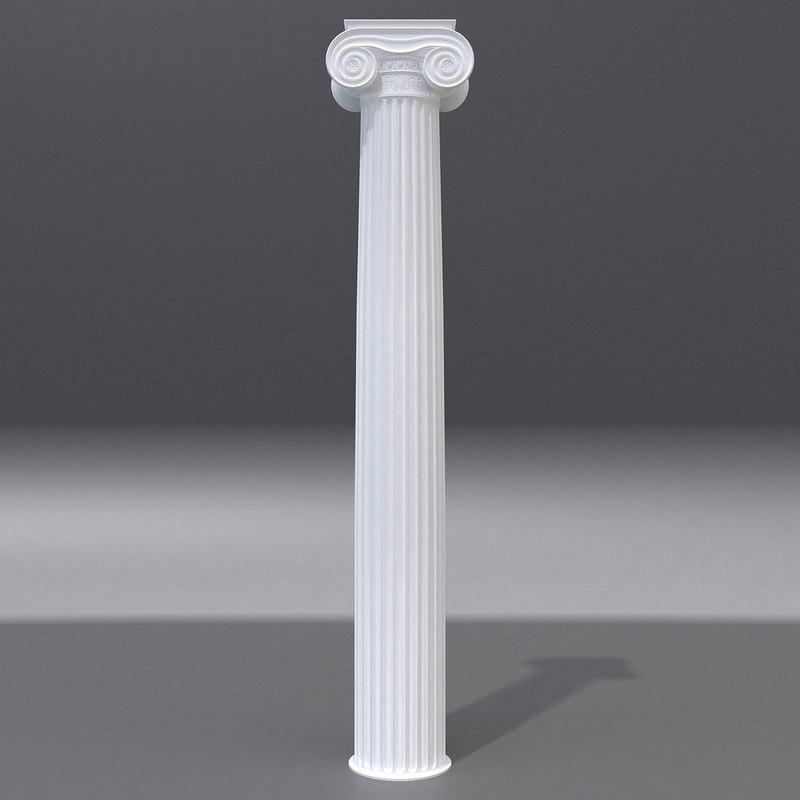 3d model antique column 5