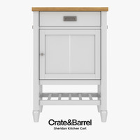 3d model realistic sheridan kitchen cart