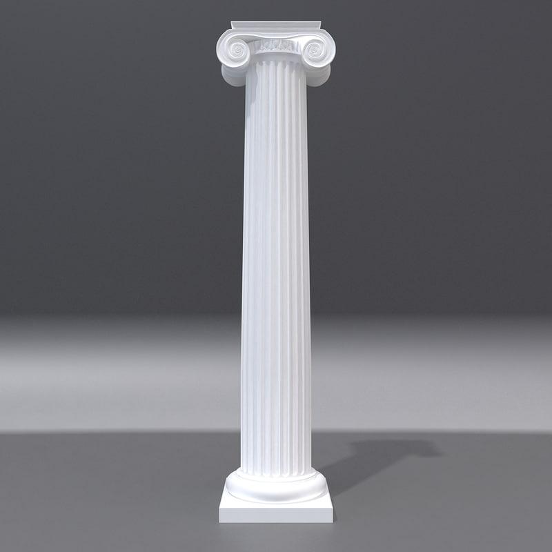 3d antique column 2