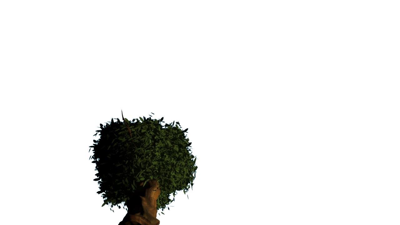 big tree 3d obj
