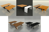 3d model office table pack