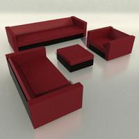 boconcept sofa armchair pouf 3d max