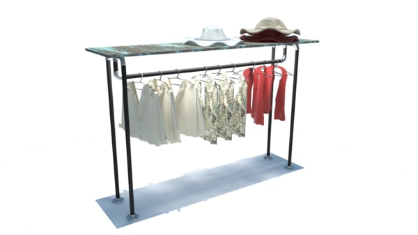 fbx clothing store rack