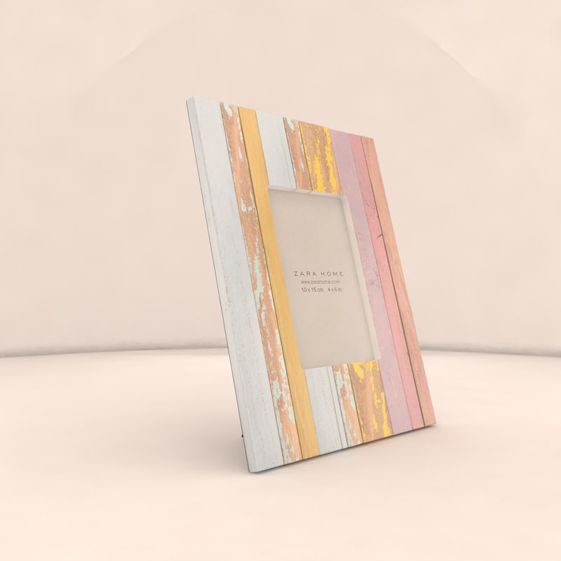 max multicoloured wooden frame