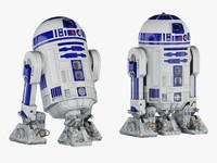 r2-d2 droid 3d model