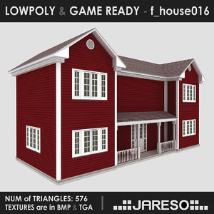real-time f house016 3ds