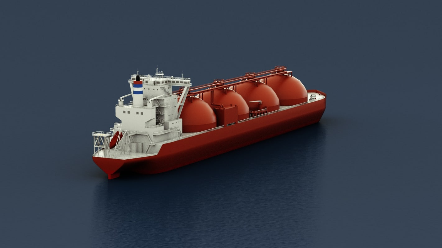 lng ship c4d