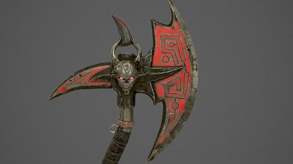 fantasy ax obj