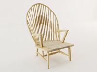 wood armchair 3d model