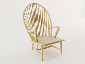 wood armchair 3d model