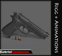 taurus pistol 3d model