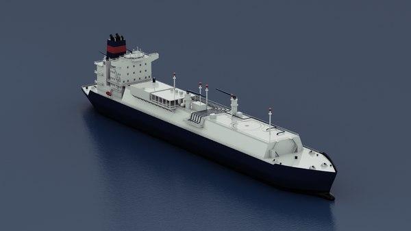 lng ship 3d c4d