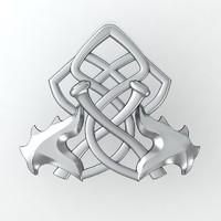 3d model axe jewelry