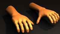 human hands 3d 3ds