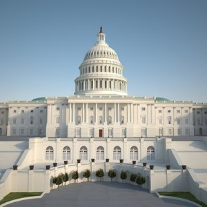 washington capitol d 3d model