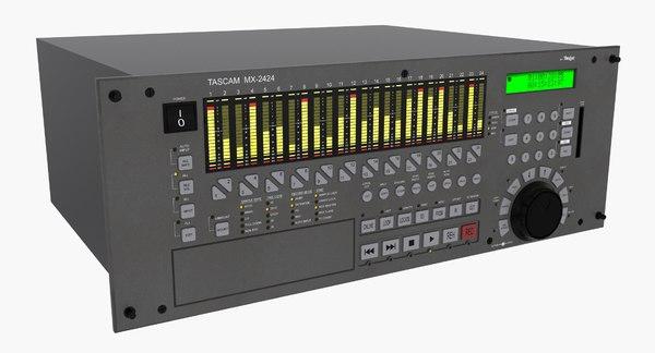 multitrack recorder rack 3d max
