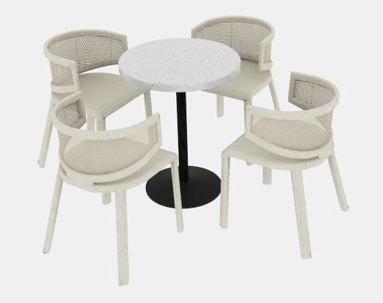 chair outdoor rattan 3d model