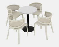 chair outdoor rattan 3d model