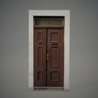 3ds old wooden door
