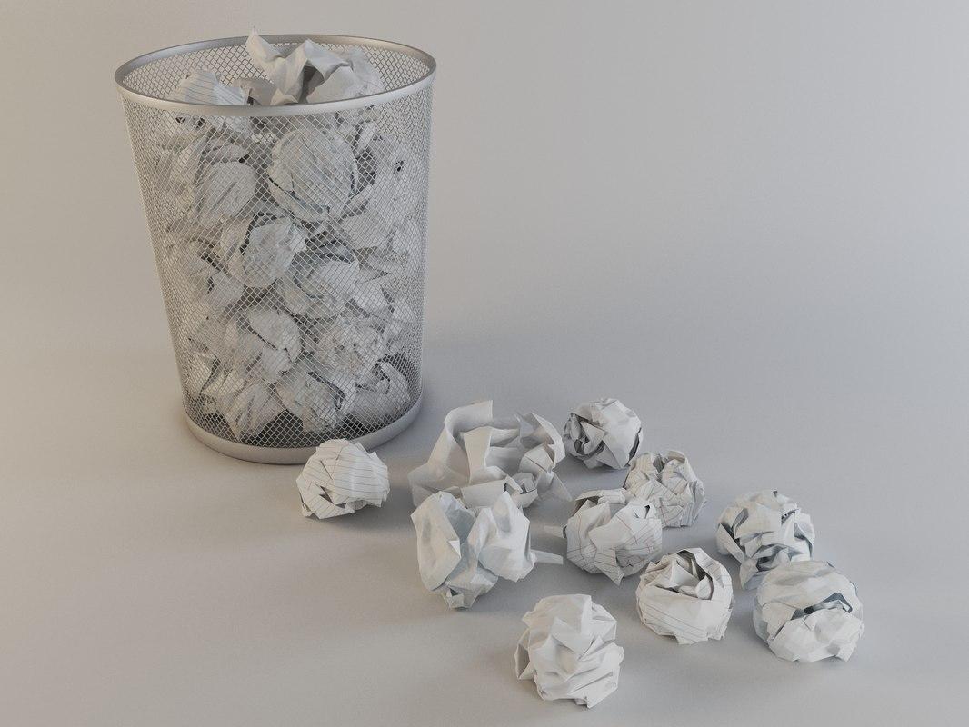crumpled paper 3d max